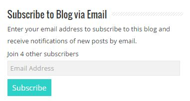 Subscribe through Email subscription